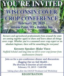 Wisconsin Cover Crop Conference- Stevens Point @ Holiday Day Inn | Stevens Point | Wisconsin | United States